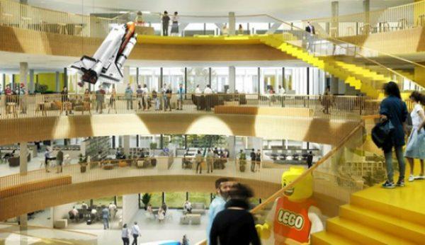 Entre na futura sede da LEGO