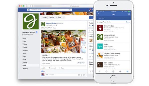 Facebook lança ferramentas de oferta de emprego
