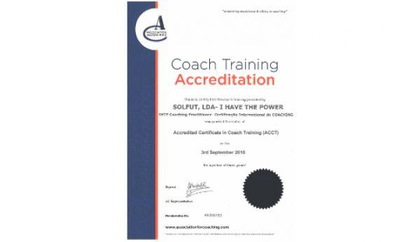 I Have the Power renova acreditação de Treino em Coaching